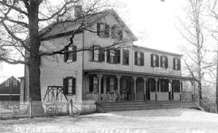 In 1906 L.T. Current purchased the Depot House at Muskrat near the D.L. & W. Station and renamed it the Anthracite Hotel.  In 1912 he added on a sizeable addition and moved the bar up to the first floor.  In 1925, after prohibition had �spoiled� business, Mr. Current sold the business to William Kohler, who then sold it to Edward Hann.  After the trains stopped running, Mr. Hann continued to operate the tavern with �rousing cockfights.�  After his death, the tavern was left to his niece, Luella O�Neil who then sold it to Bernie Wallace.  Not only named after the new owner and the road it sits on, the tavern is now called Bernie�s Hillside.