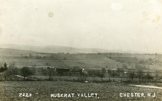 "A view of ""Muskrat Valley"" looking towards Pleasant Hill in Chester, NJ.  This is the area that the DL&W Train Station was located."